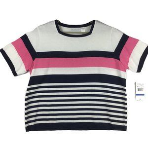 🛍NWT Alfred Dunner Striped Top